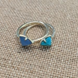 Kendra Scott Stackable Ring. Turquoise. Size 7.